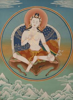 Guru Garab Dorje, the first human guru of the Vajrayana, the Awareness-Holder.