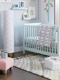 With a sturdy, solid wood construction and streamlined design, our Carousel Crib runs circles around the rest. Its low profile design and adjustable mattress height make it easy and safe to get baby in and out. The coordinating toddler rail lets it convert to a toddler bed and grow with your little one. And it's available in a variety of colors, so you can complement the rest of your nursery.