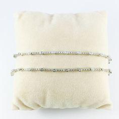 Tennis Bracelet - Cubic Zirconia, White Gold Plated, CZ Bridal Bracelet, Delicate Wedding Jewelry, Wedding Accessories, Diamond Bracelet
