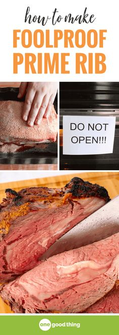 You CAN make prime rib, I promise! This method is foolproof, and the results are. You CAN make prime rib, I promise! This method is foolproof, and the results are SO delicious. This prime rib will be the star of your holid. Beef Dishes, Food Dishes, Main Dishes, Rib Recipes, Cooking Recipes, Recipies, Healthy Recipes, Cooking Tips, Cooking Beef