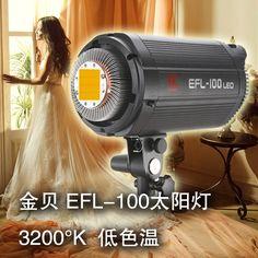 405.71$  Watch now - http://ali9cw.worldwells.pw/go.php?t=1595027819 - Adearstudio Jinbei 100 sun light 3200k dslr flash led photography light portrait light blub  daylight sensor CD50 405.71$