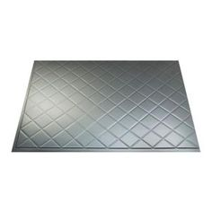 Fasade 18 in. x 24 in. Quilted Brushed Aluminum Backsplash-B54-08 at The Home Depot