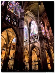 You could (successfully) argue that this is a cathedral and not a castle. But here's the thing: castles designed from the outside to look like cathedrals are the best castles. And if the outside looks like a cathedral, parts of the inside might well follow that pattern, no?