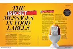 Australian Prevention by David Tang, via Behance, food