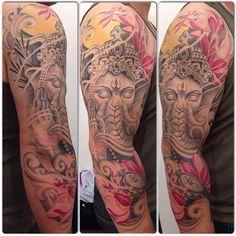 My Tattoo made by Alessio Pariggiano  #tattoo #ganesh #alessiopariggiano