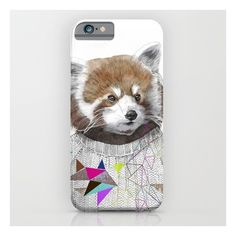 Red Panda By Jamie Mitchell And Kris Tate iPhone & iPod Case ($35) ❤ liked on Polyvore featuring accessories, tech accessories and iphone & ipod cases
