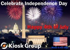 Happy 4th of July from Kiosk Group! Happy 4 Of July, 4th Of July, Digital Retail, Kiosk, Independence Day, Movie Posters, Movies, Group, Diwali
