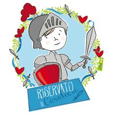 Illustrazione per feste...riservate ai cavalieri! Illustration for parties reserved for knights!