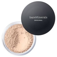 Get a flawless look with Mineral Veil translucent powder. Soften your complexion and minimize fine lines with this finishing powder from bareMinerals. Loose Powder Foundation, How To Match Foundation, Mineral Foundation, Matte Foundation, Perfect Foundation, Foundation Shade, Bare Minerals Powder Foundation, Bare Minerals Original Foundation, Maquiagem