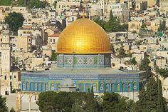 A Mesquita de Omar, mais conhecida como Cúpula da Rocha ou Domo da Rocha, um dos ícones da Cidade Velha de Jerusalém