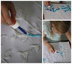 This Frozen Snowflake Art was so FUN to create! And even more FUN to watch the paint magically spread across the artwork...perfect for a Frozen themed party activity!