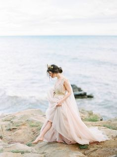 A beautiful ethereal wedding inspiration shoot by Pasha Lutov on the Crimean Peninsula Ethereal Wedding Dress, Wedding Gowns, Bridal Gowns, Wedding Venue Inspiration, Wedding Ideas, Nature Inspired Wedding, Bride Portrait, Space Wedding, Bridal Outfits