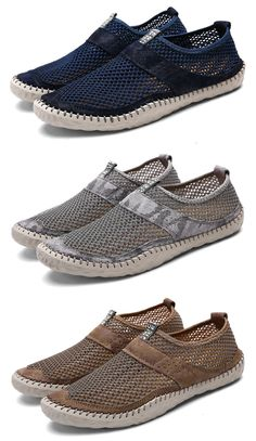 706b81f62f6 US 38.95 Men Breathable Mesh Hand Stitching Non-slip Casual Shoes shoes   beach