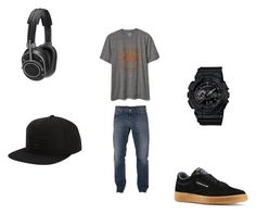 """""""Untitled #37"""" by directioner-792 on Polyvore featuring Armani Jeans, Gap, Reebok, G-Shock, Master & Dynamic, Billabong, men's fashion and menswear"""