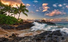 тихий, hawaii, океан, мауи, maui, гавайи