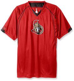 NHL Ottawa Senators Men's Short Sleeved Birds Eye T-Shirt, 2X, Red
