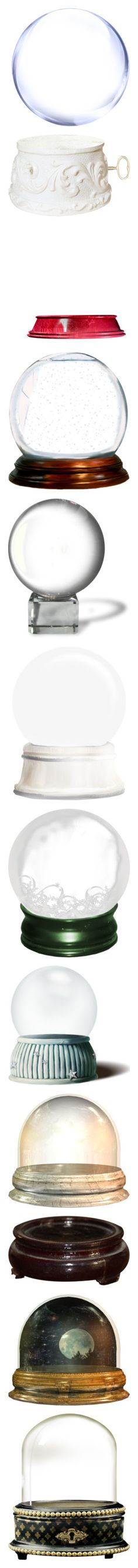 """""""Snow Globes ❄️"""" by mellie2cute ❤ liked on Polyvore featuring effects, circles, backgrounds, bubbles, fillers, round, borders, embellishments, text and texture"""