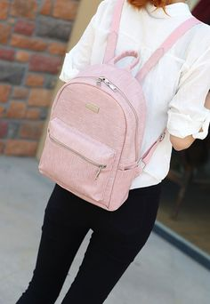 BA02059 Backpack simple thick pattern Korean style