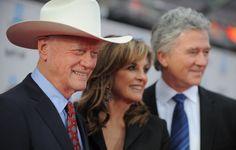 Dallas the three besties ! Larry Hagman , Patrick Duffy , and Linda Gray . RIP Larry Hagman