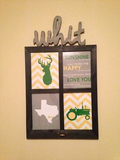 Boy Room Decor John Deere Nursery Art Deer Tractor by karimachal, $45.00