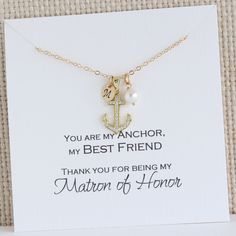 Maid of Honor Best Friend Gift