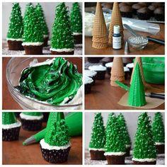 #Cupcake de #Natal Aproveite a ideia e surpreenda na festa natalina. Confira nossa linha de produtos que selecionamos para você aqui: www.aluafestas.com.br/natal