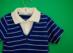 Vintage 1960s Boy's Knit Shirt Size 2T3T by SweetShopVintage