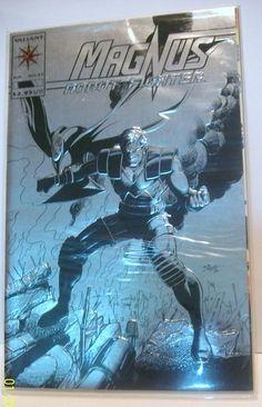 1993 Valiant Comics Magnus Robot Fighter #25 Silver Foil Cover VF-NM Unread Comic Book
