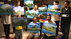 """Bob Ross-themed birthday party delighted the internet By Laura Vitto2017-02-06 18:45:38 UTC  Bob Ross  the television host/painter/unexpected Netflix star  once said We dont make mistakes; we have happy accidents.""""  For Chris Nervegna a 22-year-old from South River New Jersey his now-viral Ross-themed birthday party came together as his own kind of happy accident.  """"Jokingly we threw the idea of having a Bob Ross and Chill kinda party Nervegna wrote via email. I dont think anyone thought we…"""