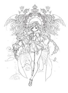 4e25e3ce3b253ae6bef1a584a4f2543aa469a91714d44-r2OfVG_fw658 (580×796) Fairy Coloring Pages, Animal Coloring Pages, Coloring Books, Outline Drawings, Art Drawings, Polychromos, Anime Sketch, Character Drawing, Drawing Sketches