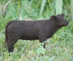 needle felted calf