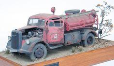 Italeri Opel Blitz Firetruck 1/24 Scale Model