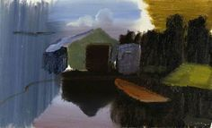 "portermoto: ""The Boat House"" by Ivon Hitchens"