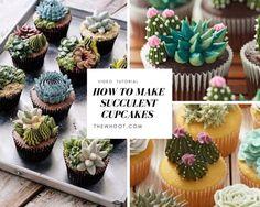 succulent cupcakes tutorial