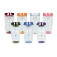 """Vino Luxe Insulated 10-Ounce Wine Tumbler - BedBathandBeyond.com  Kayleigh these are freakin awesome for the girls! you guys will need """"water"""" to carry with you during all your running around! Uncle Jim gave this idea!!"""