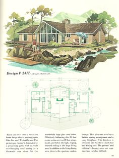 Vintage House Plans, Vacation homes, 1960s vacation homes