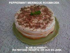 TERTE & ROLKOEKE - SOET Tart Recipes, Dessert Recipes, Dessert Ideas, Desserts, Kit Kat Brownies, South African Recipes, Ethnic Recipes, Peppermint Meringues, Fridge Cake