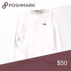 The North Face TKA 100 White Women's Quarter ZipUp White and warm for upcoming season The North Face women's jacket. Slight staining on shoulders and near the sides. The North Face Jackets & Coats
