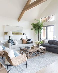 What the Pros Are Saying About Coastal Living Room Decor and How It Affects You - homeexalt Boho Living Room, Interior Design Living Room, Home And Living, Living Room Designs, Hamptons Living Room, Living Room Rugs, Wood Furniture Living Room, Living Room Elle Decor, Living Room With Chairs