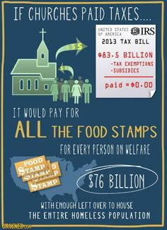 Churches and Food Stamps - if all churches were actually committed to helping everyone...