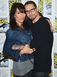 Katey (Gemma) and her real life hubby (and the creator of SOA) Kurt Sutter
