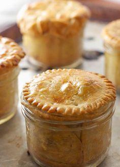 Save this recipe to make Mason Jar Chicken Pot Pies.