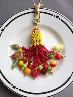 Beaded Tassel  Tutti Frutti by AMRDesignsCo on Etsy