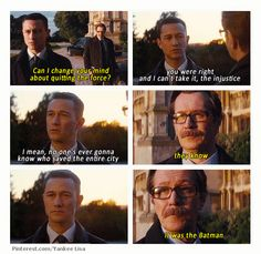 The Dark Knight Rises: joe and one of his favourite actors Gary Oldman. I bet he was freaking out when he saw him