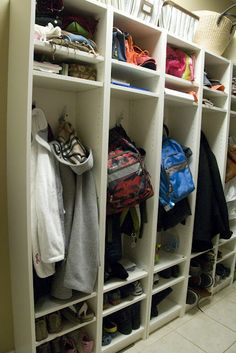 Make Your Own Mud Room Lockers... - The Polkadot Chair