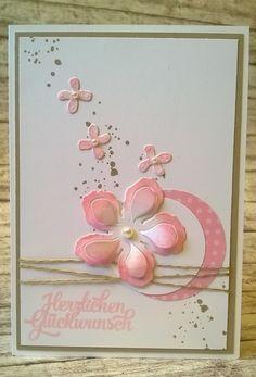 Glückwünsche - Zarte Glückwunschkarte - ein Designerstück von kreativesherzerl bei DaWanda