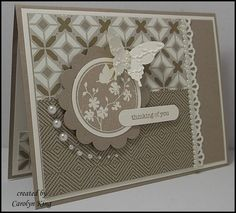 Teeny Tiny Sentiments and Serene Silhouettes, love the pearls.