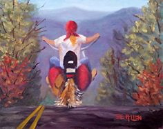 Living Free, NH by Sharon Allen Oil ~ 10 x 8
