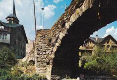 ESTERRI DE ANEU PUENTE ROMANICO PIRINEOS DE CATALAN Nº 2133 F. ARRIBAS