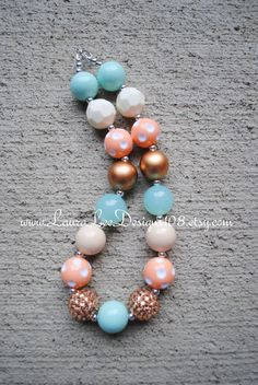 Mint Peach Cream and Gold Children's by LauraLeeDesigns108 on Etsy
